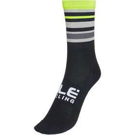 Alé Cycling Stripes Q-Skin Socken 16cm Herren schwarz/gelb